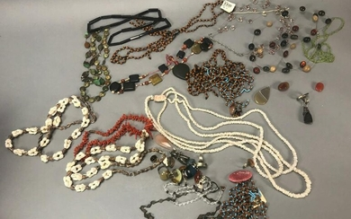 Assorted Beaded Necklaces, Rings and Earrings