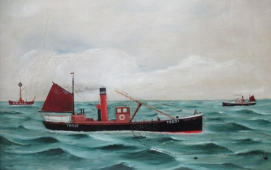 Attributed to George Race (1872-1957) - a seascape with the ...