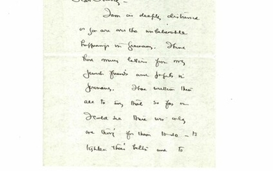 Autograph Letter, Signed, to Harry [Friedenwald] (May 14, [1933]) about the plight of Jews in Nazi Germany.