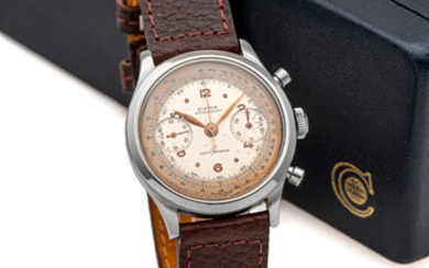 CYMA, OVERSIZE, CLAMSHELL CHRONOGRAPH, STEEL