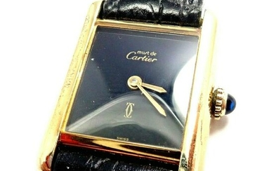 Cartier Must De Silver 925 Argent Vermeil Manual Wind