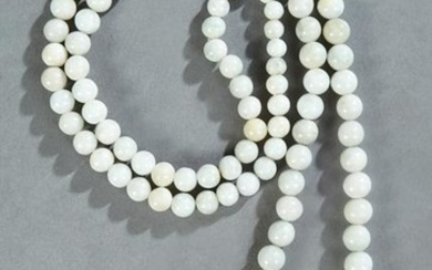 Chinese Necklace of Graduated Circular Jade Beads, 20th