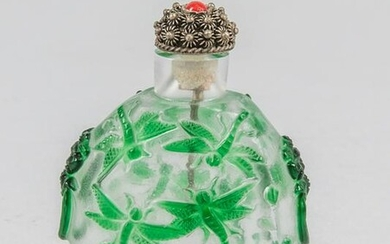 Chinese Old Overlay Glass Snuff Bottle