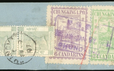 Chungking 1894 Third Issue Covers - International British Post Office: 1897 (29 Jan.) piece fro...