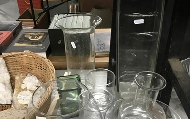 Collection of glass vases incl. an oversized goblet vase