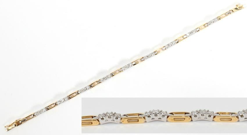DIAMOND, WHITE & YELLOW GOLD, BRACELET