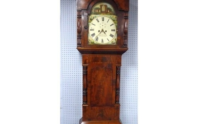 EARLY NINETEENTH CENTURY CROSSBANDED AND FLAME CUT MAHOGANY ...