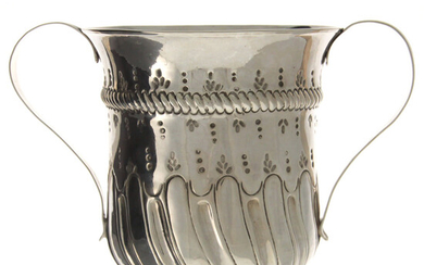 Early George III Sterling Silver Two Handled Trophy, London, England, 1770.