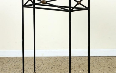 FRENCH IRON BRONZE MARBLE TOP CONSOLE TABLE C1940