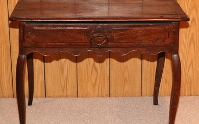 "FRENCH, MAHOGANY, SIDE TABLE, C1900, H 28"", W 35"""