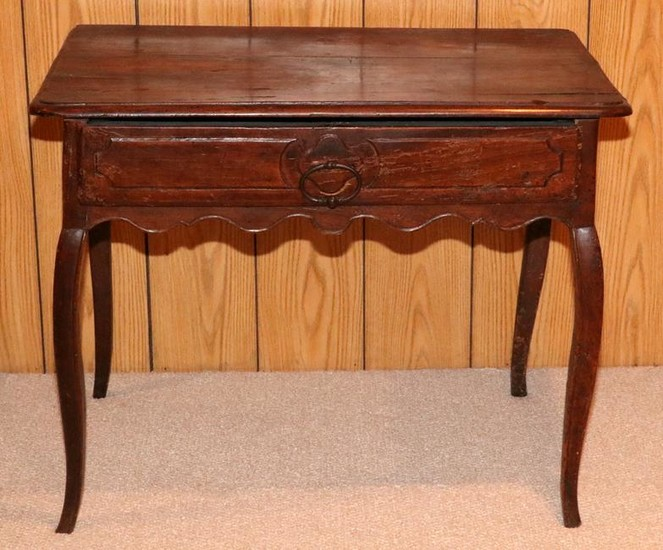 """FRENCH, MAHOGANY, SIDE TABLE, C1900, H 28"""", W 35"""""""