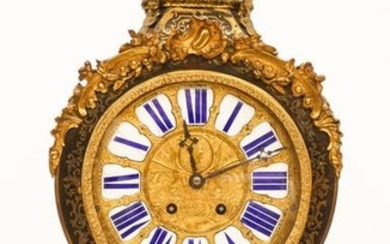 French 18th Cent. Boulle Clock with Bracket Shelf