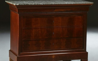French Louis Philippe Marble Top Commode, mid 19th c.