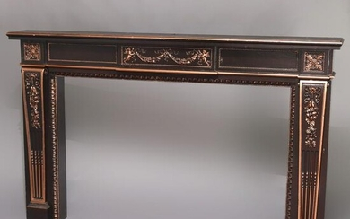 French Neoclassical Parcel-Gilt Fireplace Mantel