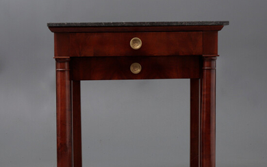 French Restoration-style mahogany console table, early 20th Century.