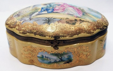 French Sevres Style Porcelain Box