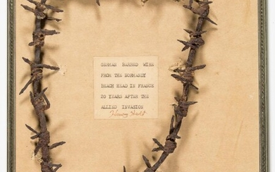 "GERMAN BARBED WIRE FROM ""NORMANDY BEACH HEAD"""