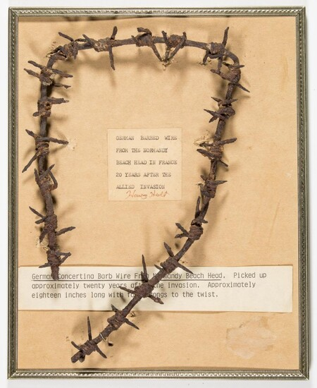 """GERMAN BARBED WIRE FROM """"NORMANDY BEACH HEAD"""""""