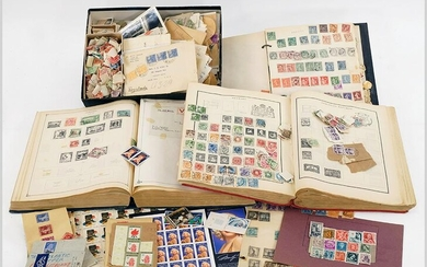 Group of Antique and International Stamps.