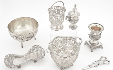 Group of Continental Silver Table Articles