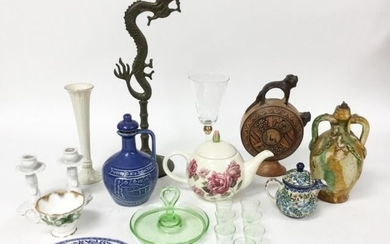 Grouping of Glass, Porcelain & Metal Items