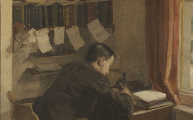 Harold Gilman (1876-1919), The Reverend John William Harold Battiscombe at his desk