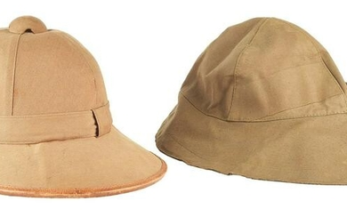 LOT OF 2: GERMAN WWII KRIEGSMARINE PITH HELMET AND FOUL