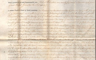 """[Land Grant Signed by Politician and Confederate General John Buchanan Floyd]"""