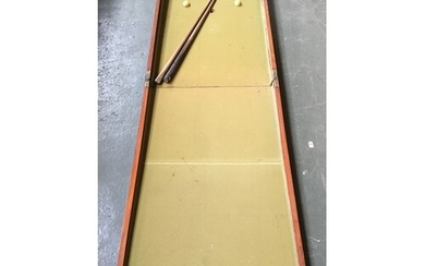 Late 19th/early 20th century table billiards game, with two ...