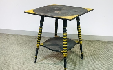 Late Victorian Painted Table, late 19th century, ht. 28, wd. 23, dp. 23 in.