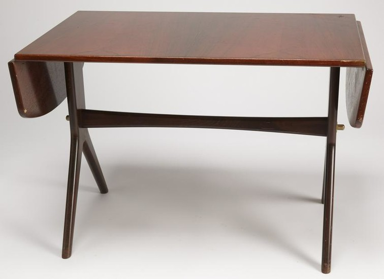 Mid-Century Modern Coffee Table with Drop-Leaves