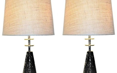Pair of French Contemporary Modern Table Lamps