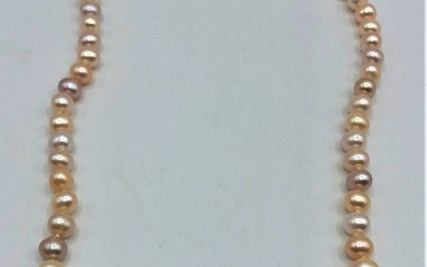 Pearls Necklace with 14 K Gold Clasp