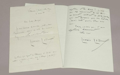 ROLLAND (Roman). Correspondence addressed to André Bacqué. March...