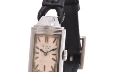 Reverso Luxe, Lady's stainless steel reversible wrist watch