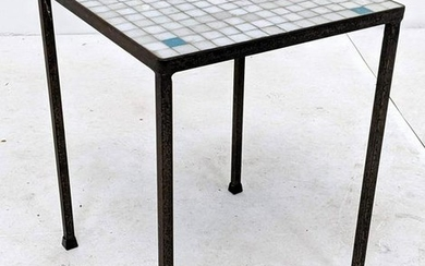 Small Square Glass Tile top Table. Small square glass t