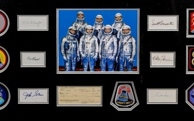 VIRGIL 'GUS' GRISSOM SIGNED CHEQUE with the signatures of...