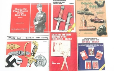 WWII THIRD REICH & INDIAN REFERENCE BOOKS LOT OF 6