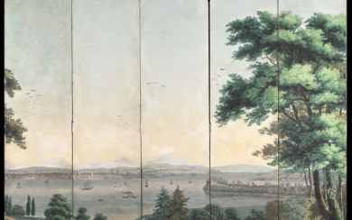 """Zuber & Cie (attributed) France, 19th century """"View of..."""