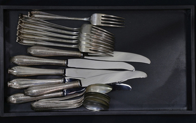 (lot of 18) A Wallace Mozart sterling silver flatware service weighable 17toz