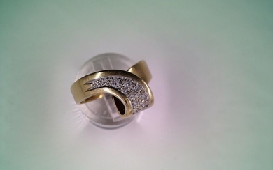 15 kt. Yellow gold - Ring - Diamonds