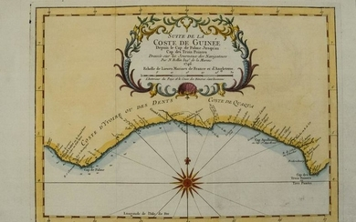 1745 Bellin Map ofthe Guinea Coast -- Suite de la coste