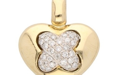 18 kt. Gold - Pendant - 0.66 ct Diamond