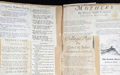 1940s Personal Scrapbook With Poems Advertisements and