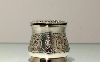 19th Century Antique Victorian Sterling Silver Inkwell
