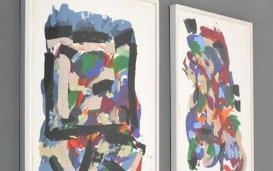2 Neil Williams Abstract Paintings