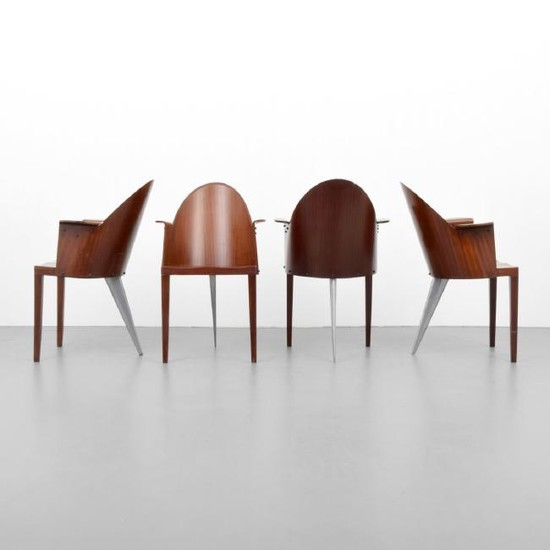 Living Room Bedroom Combo Ideas, Lot Art 4 Philippe Starck Royalton Armed Dining Chairs
