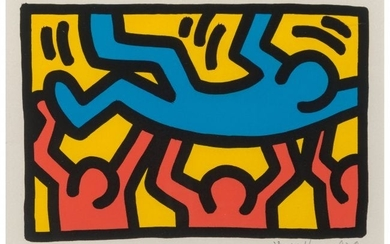 65035: Keith Haring (1958-1990) Untitled, 1987 Lithogra