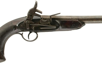 A 16-BORE SPANISH HOLSTER OR OFFICER'S PISTOL, 7.5inch