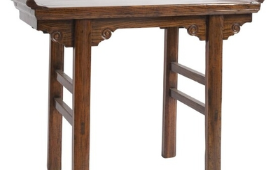 A CHINESE ELM WINE TABLE QING DYNASTY (1644-1912)